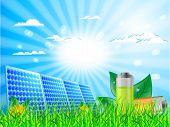Постер, плакат: Панель солнечных батарей