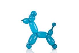 stock photo of parti poodle  - Simple balloon animal poodle on white - JPG