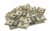 stock photo of twenty dollar bill  - pile of 20  - JPG