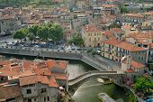 View Of Medieval Town In Italy poster
