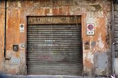 foto of intercourse  - Old Grey Garage Door at a old house - JPG