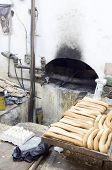 Постер, плакат: Местное хлебобулочные свежий хлеб древней печь Igredients старый город Иерусалим Палестины Израиль