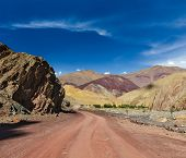 picture of manali-leh road  - Travel forward concept background  - JPG