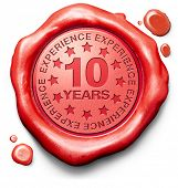 picture of ten  - ten years experience 10 year of specialized expertise top expert specialist best service guaranteed - JPG