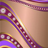 Abstract Lilas  Floral  Frame (vector) poster