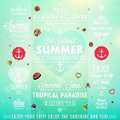 stock photo of bon voyage  - Retro elements for Summer calligraphic designs  - JPG