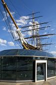 stock photo of sark  - The impressive Cutty Sark in Greenwich London - JPG