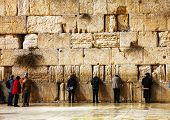 The Western Wall In Jerusalem, Israel In The Night