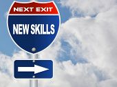 New skills road sign