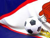 picture of samoa  - Flag of american samoa with football in front of it - JPG