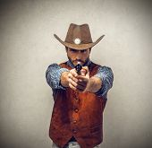 stock photo of sack dollar  - Cowboy - JPG