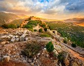 image of golan-heights  - Castle Nimrod in Israel - JPG