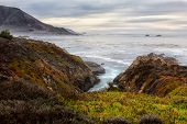 picture of pch  - Garrapata State Beach Ocean Waves in Late Afternoon - JPG
