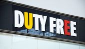Duty free shop sign.