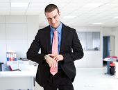stock photo of discipline  - The boss discipline you fot being late - JPG