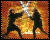 Star wars uns Briefmarke