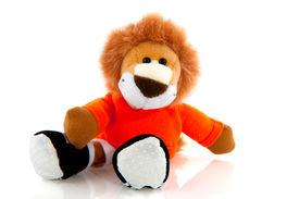 stock photo of stuffed animals  - Dutch lion as symbol for Dutch championship - JPG