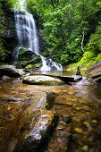 stock photo of waterfalls  - Upper Catabwa Falls is a 50 - JPG