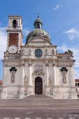 image of vicenza  - Sanctuary of Our Lady of Monte Berico facade of the basilica dome and bell tower Vicenza  - JPG