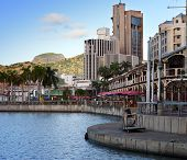 foto of mauritius  - The embankment at sunset Port - JPG