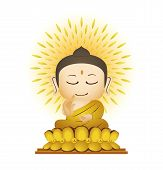 stock photo of gautama buddha  - Bod hi Leaf Natural Vector Art and Buddha Cartoon Vector - JPG