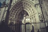 foto of parador  - arch and door of the cathedral of Toledo - JPG