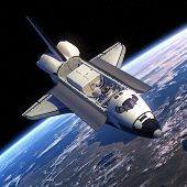 image of orbital  - Space Shuttle Orbiter In Space - JPG