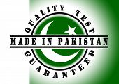 image of pakistani flag  - Quality test guaranteed stamp with a national flag inside Pakistan - JPG