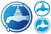 picture of tapping  - water tap symbol vector illustration on white background - JPG