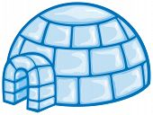 picture of igloo  - ice igloo vector illustration on white background - JPG