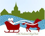 foto of sleigh ride  - Old fashioned sleigh ride  - JPG