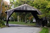 pic of covered bridge  - A view of a covered bridge in Massachusetts - JPG