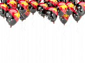 picture of papua new guinea  - Balloon frame with flag of papua new guinea isolated on white - JPG