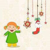 foto of merry chrismas  - Beautiful hanging X - JPG