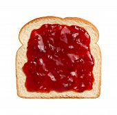 Постер, плакат: Strawberry Preserves On Bread