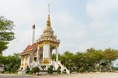 foto of crematory  - Crematory with sky background at Wat Wat bungba - JPG