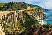 image of bixby  - Bixby Creek Bridge in Big Sur California United States - JPG