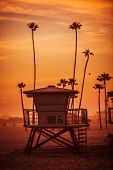 picture of coast guard  - Ocean Beach Lifeguard Tower - JPG