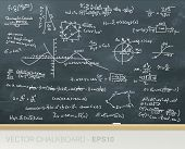 pic of pythagoras  - Vector chalkboard with mathematics formulas in handwriting - JPG