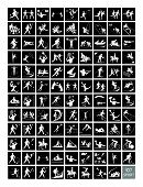 pic of luge  - Illustration Collection of 107 Winter and Summer Sport Icons in Black and White Colors - JPG