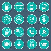 picture of glyphs  - 16 gas station icons - JPG