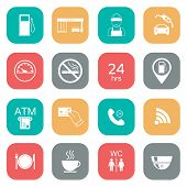 stock photo of glyphs  - Set of gas station icons - JPG
