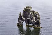 stock photo of troll  - A rock in Iceland said to be a petrified troll - JPG