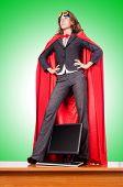 foto of superwoman  - Businesswoman in superwoman concept - JPG