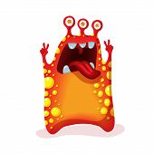stock photo of monsters  - Bright funny monster alien - JPG