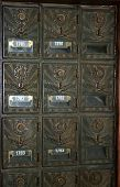 pic of yesteryear  - Vintage mailboxes as found in the postoffice of yesteryear - JPG