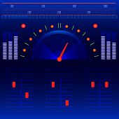 picture of musical scale  - Abstract futuristic dashboard music radio panel vector - JPG