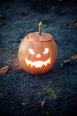 image of jack-o-lantern  - Angry halloween jack - JPG