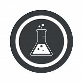 picture of conic  - Image of conical flask in circle - JPG
