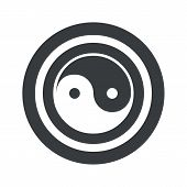 stock photo of ying yang  - Image of ying yang symbol in circle - JPG